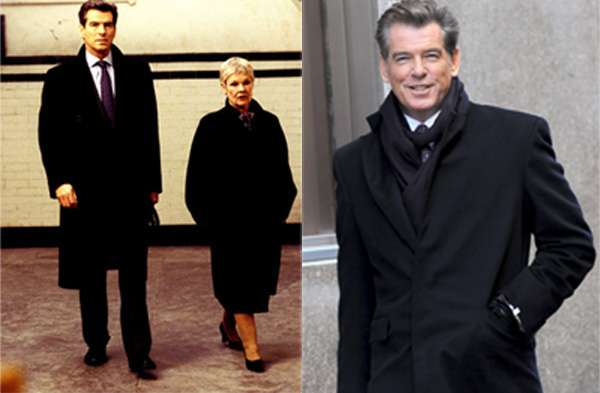 James Bond Pierce Brosnan porte un long manteau