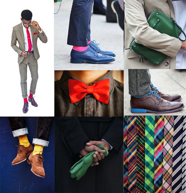 couleur chaussettes cravate lacets