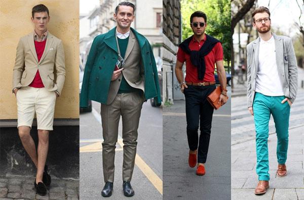 couleur rouge vert vêtements