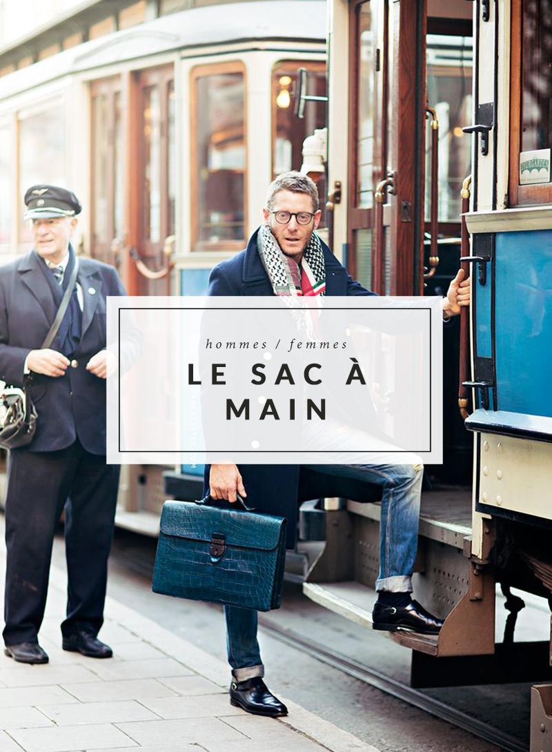 Tendance homme - Le sac à main - The Men Times par Faubourg Saint Sulpice - Photo: Carolines Mode via Stockholm Streetstyle