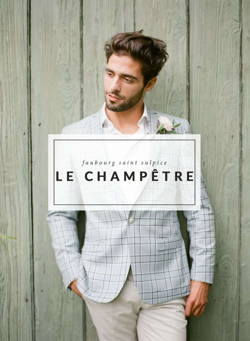 Mariage d'inspiration - Le Champêtre - The Men Times par Faubourg Saint Sulpice - Photo: Greg Finck